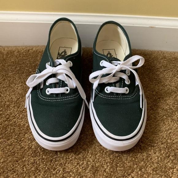 Vans Shoes | Dark Green Vans | Poshmark